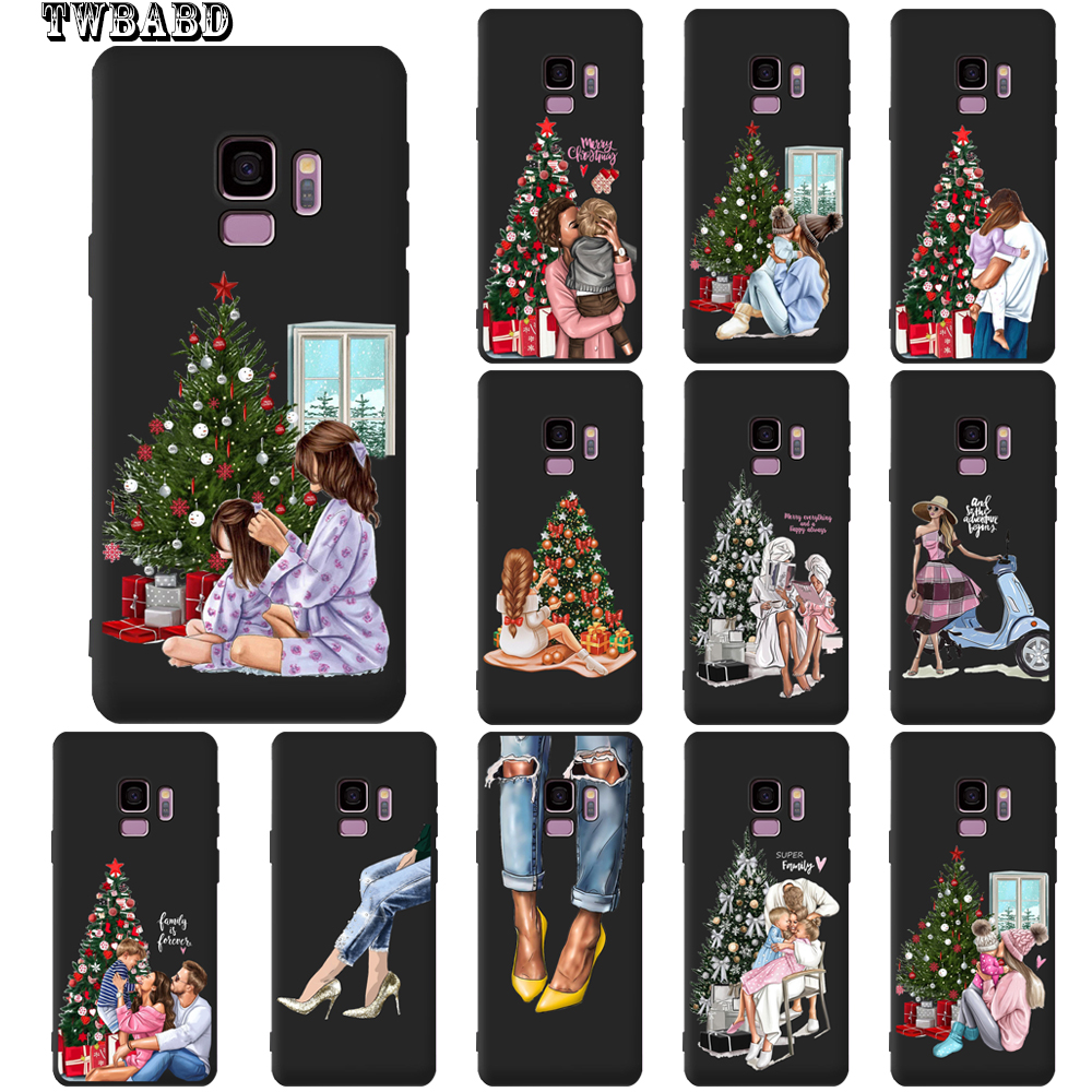 Christmas Family Mom Dad Baby Phone Case For Samsung Galaxy S9 S8