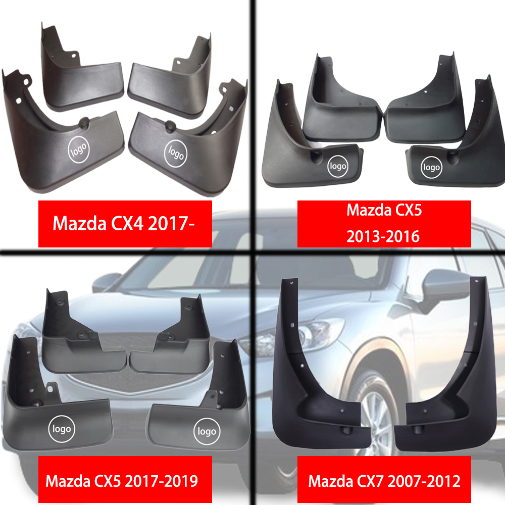 4pc Car Front Rear Mud Flaps Mud Flap Mudguards Fender for Mazda 3 BK Hatch Hatchback M3 2004 2005 2006 2007 2008 Accessories Color Name: One Set