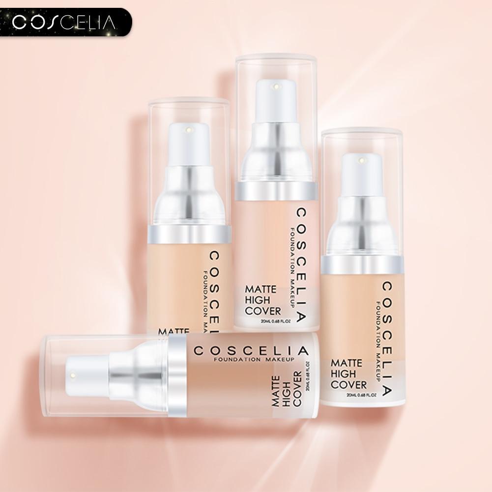 COSCELIA Makeup Base Face Foundation BB Cream Concealer Natural Moisturizer Oil-control Whitening Waterproof Liquid Foundation