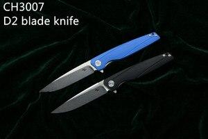 Image 2 - Cuchillo D2 CH 3007/3507, cuchillo plegable abatible con rodamiento de bolas, mango G10, para Camping/caza/al aire libre/bolsillo/cuchillo de supervivencia EDC