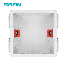 Mounting-Box Socket Switch Cassette Back-Box Internal SRAN White/red Adjustable for 86-Type