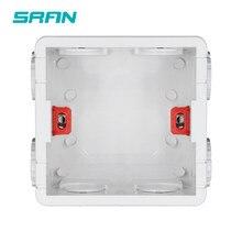 SRAN – boîte de montage réglable, Cassette interne, 86mm x 83mm x 50mm, pour interrupteur de type 86 et prise, boîtier arrière blanc/rouge pour câblage