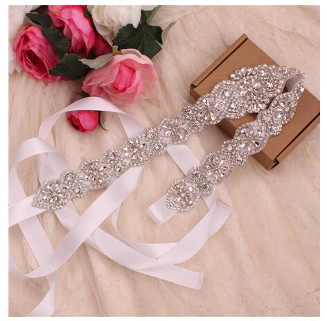 Womens Elegant Rhinestone Handmade Belt Wedding Belts Diamond Sash For Bride Wedding Dress Temperament Decorative Jewelry