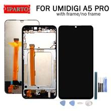 6.3 인치 UMIDIGI A5 PRO LCD 디스플레이 + 터치 스크린 디지타이저 어셈블리 A5 PRO + 도구 용 100% 오리지널 LCD + 터치 디지타이저