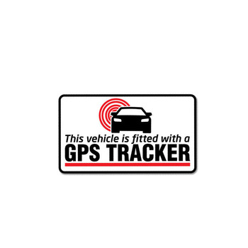 Warning GPS Tracker Fitted Car Sticker Automobiles Motorcycles Exterior Accessories PVC Decal for Honda Lada Bmw Audi,11CM*6.2CM image