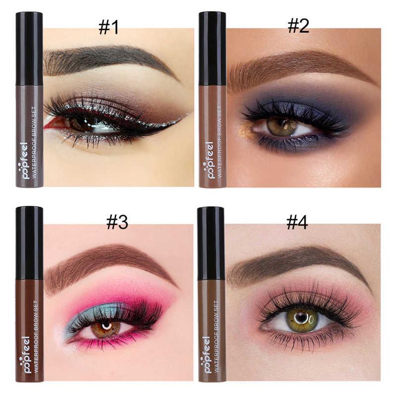 Nova marca quente maquiagem olho sobrancelha gel café preto marrom tinta sobrancelhas gel à prova dwaterproof água sobrancelha matiz mascaras kit moda
