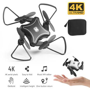 New Original Mini Drone Folding UAV RC Drone With 4K HD Video Camera 4-axis Dron RC Quadcopter Kids Helicopter Drones Toys image