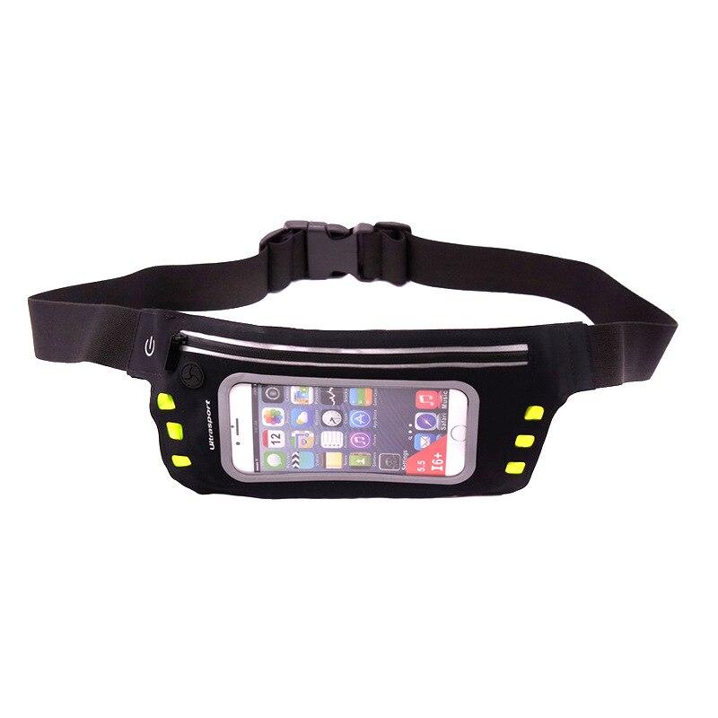 Outdoor Sports Tactical Running Bag Night Run Led Sports Running Bag Lycra Fabric-Touch Screen Running Bag Mountaineering Runnin
