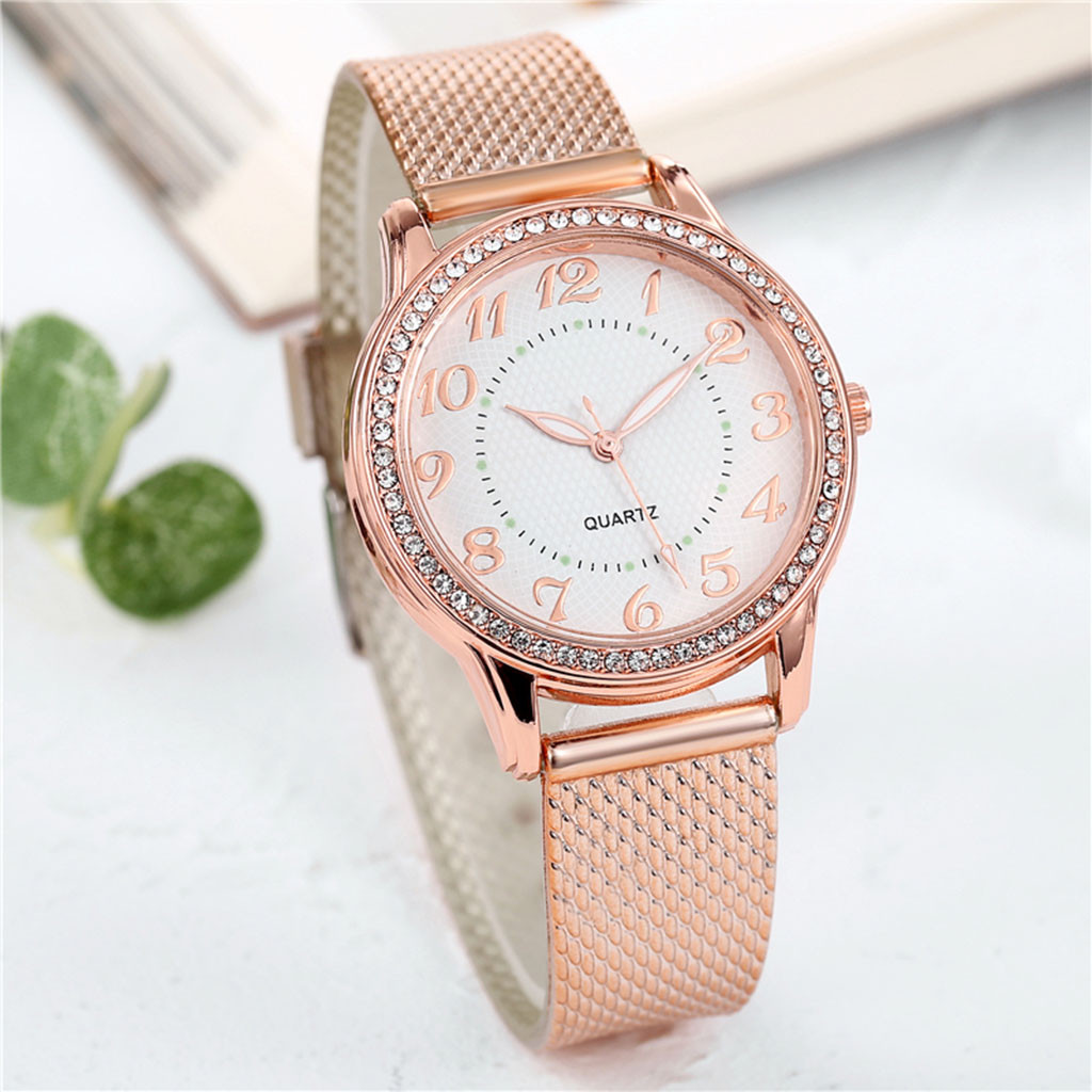 Relogio Feminino Luxury diamond Watches Quartz Watch Stainless Steel Dial Casual Ladies Watch Women Wristwatch Zegarek Damski W3 5