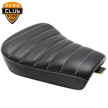 New Black Motorcycle Pillow Solo Seat Cushion Front Driver PU Leather Seat For Harley Sportster Forty Eight XL 883 1200 72 48