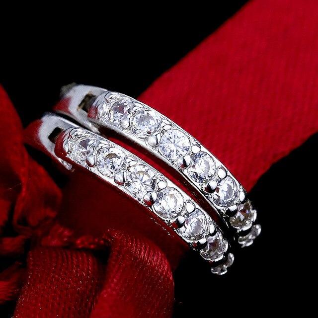 Фото женские серьги кольца chyvenee классические круглые серьги серебряного