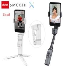 Używany Zhiyun gładki X Selfie stabilizator kij Gimbal Palo ręczny vlog anti shake dla iPhone Huawei Xiaomi Redmi Samsung