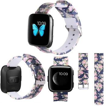 18/20/22mm Watch Strap for Huawei/Fossil Q/LG/Samsung Smart watch Wristbands with Steel Buckle Printed Sport Band for Garmin
