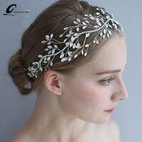 Romantic Bride Wedding Tiara Rhinestone Headbands Vintage Style Headwear Hairband Wedding Dress Accessories Hair Vine