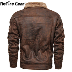 Image 3 - ReFire Gear Winter Warm Army Tactical Jackets Men Pilot Bomber Flight Military Jacket Casual Thick Fleece Cotton Wool Liner Coat