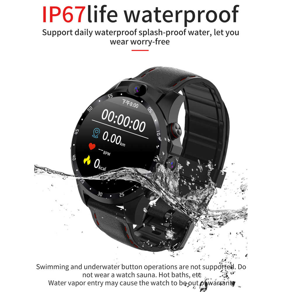 696 V9 4G ساعة ذكية المزدوج HD كاميرا مكالمة فيديو القلب معدل كشف متعددة وضع الرياضة GPS IP67 للماء 800mAh البطارية ووتش