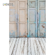 Laeacco Grunge Old Wooden Door Floor Baby Portrait Photographic Backgrounds Customized Backdrops For Photo Studio