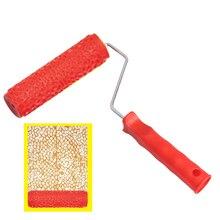 Краска роликовый узор рельефная текстурная живопись инструменты для стены резиновая безвоздушная Pintura машина бытовая щетка цилиндрические инструменты