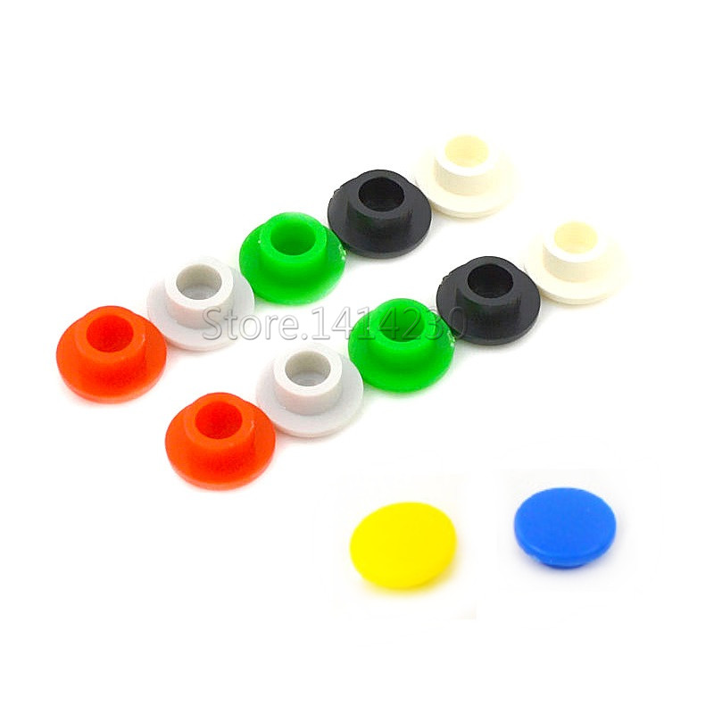20Pcs 6X6X5/5.5/6/7mm Round Tactile Push Button Switch Cap Micro Button Cap Momentary Tact Cap Red Gray Blue Black White Yellow