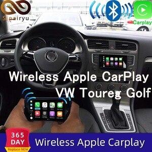 Sinairyu Wifi беспроводной Apple Carplay для 2010-2017 Volkswagen Toureg Golf с зеркалом iOS13 Android, авто зеркало в форме яблока