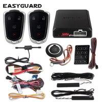 Easyguard pke entrada keyless passiva alarme de carro remoto start stop botão de arranque automático inteligente