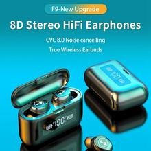 LEORY Stereo HiFi Wireless bluetooth Earphone TWS CVC8.0 Denoise Earbdus Smart Touch