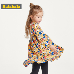 Balabala girls dress children's clothing baby(China)