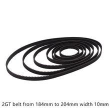 Cinto impressora C-20 3D GT2 closed loop borracha 2GT cronometragem largura 10mm de Comprimento 300 320 350 360 376 380 400 500 600 610 milímetros