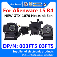 Laptop New original CPU/Graphics Cooling Heatsink Fan Assembly For Dell Alienware 15 R4 ALW15 R4 DDR51 1070 GTX1070 003FT5 03FT5