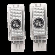 2 шт. светодиодный логотип автомобиля вежливость двери лампа для Mercedes Benz C CLK SLK SLR класса W203 W208 R171 C199 AMG Добро пожаловать на светильник лазерны...