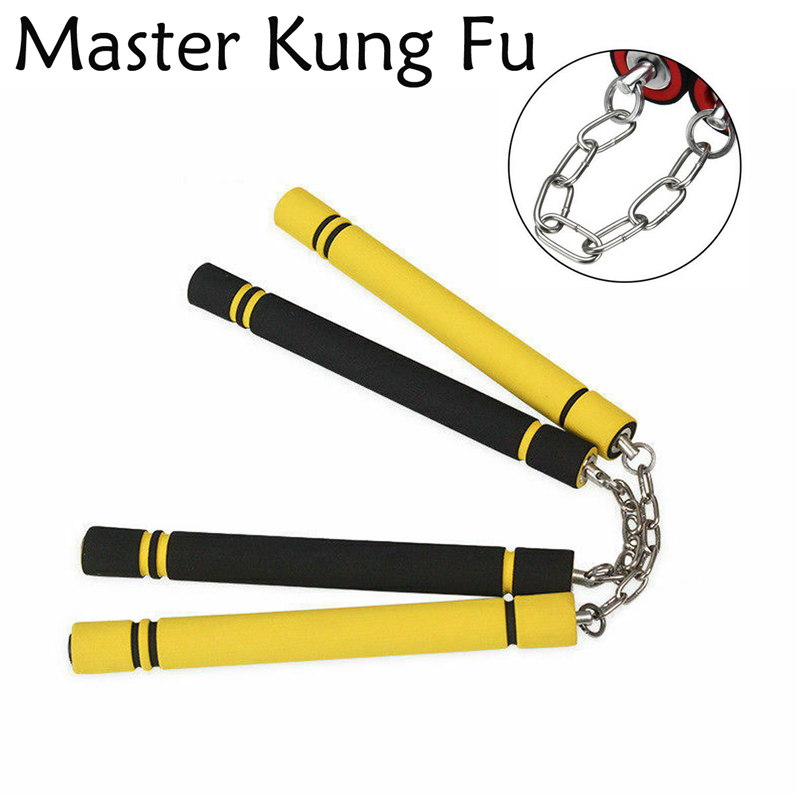 Martial Arts Safety Foam Kung Fu Training Nunchakus Ninja Nunchuck Sponge Truncheon With Chain