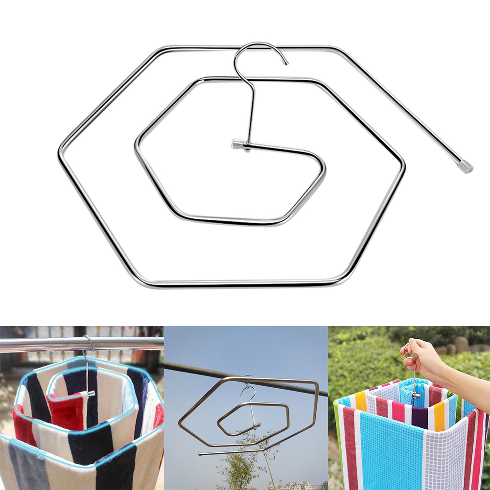 9.5mm Stainless Steel Quilt Hanger Yard Rustfree Drying Rack Strong Bearing Home Spiral Shaped Balcony Blanket Towels Rotating