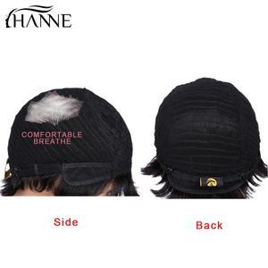 Image 5 - HANNE Haar Pixie Cut Perücken Kurz Menschliches Haar Perücken Wellenförmige Perücke Brasilianische Remy Haar Kostenloser Teil Perücke für Schwarz/weiß Frauen