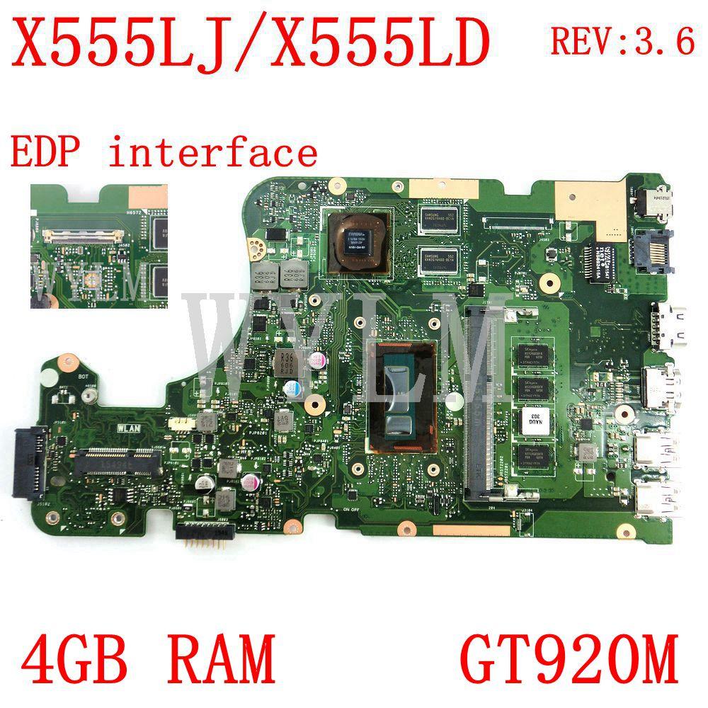 X555LJ EDP интерфейс 4 Гб Оперативная память GT920M REV3.6 материнская плата для ноутбука ASUS X555LJ X555LD X555L A555L K555L F555L материнская плата для ноутбука тести...