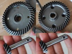 Harden Steel Front differential gear set/rear differential gear set for 1/5 losi 5ive T ,rovan LT ,Kmx2 rc car parts