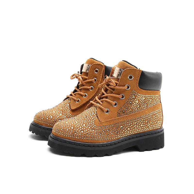 Autumn New Fashion Rhinestone Girls Boots Brand High Quality Kids Boots All match Princess Children Boots For Girls|Boots| |  - title=