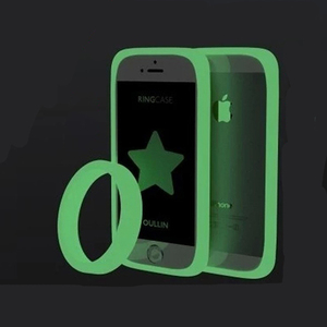 Hot! Luminous Bracelet phone Bumper case Universal phone border protection Soft Silicon Ring Frame for Andrews and Apple phone(China)