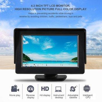 4.3 Pollici TFT LCD Monitor Auto Retrovisore Display A Colori 2 canali Ingressi Video Visivo Retromarcia per Auto VCD /DVD/GPS/Macchina Fotografica Calda-in Monitor per auto da Automobili e motocicli su