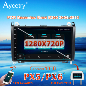 Image 1 - PX6 Car radio 1 Din Android 10 dvd GPS autoradio For Mercedes Benz B200/A B Class/W169/W245/Viano/Vito/W639/Sprinter W906 Audio