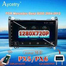 PX6 araba radyo 1 Din Android 10 dvd GPS autoradio Mercedes Benz için B200/A B sınıfı/W169/W245/Viano/Vito W639/Sprinter W906 ses