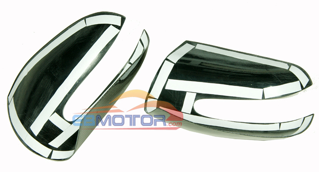 Real Carbon Fiber Mirror cover 1pair for Benz S-Class W220 1998-2005 M106M 6