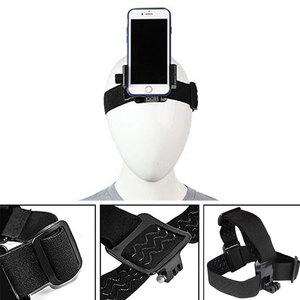 Image 1 - Head Band Phone Holder Adjustable At Harness Strap Belt Mount Tripod Clip Bracket For Gopro Camera Iphone Android Smartphone