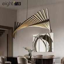 Iluminación LED nórdica para sala de estar lámpara colgante de diseño de espina de pescado, para comedor, moderna y novedosa lámpara para oficina