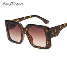 Longkeeper oversized square sunglasses women 2020 ladies fashion