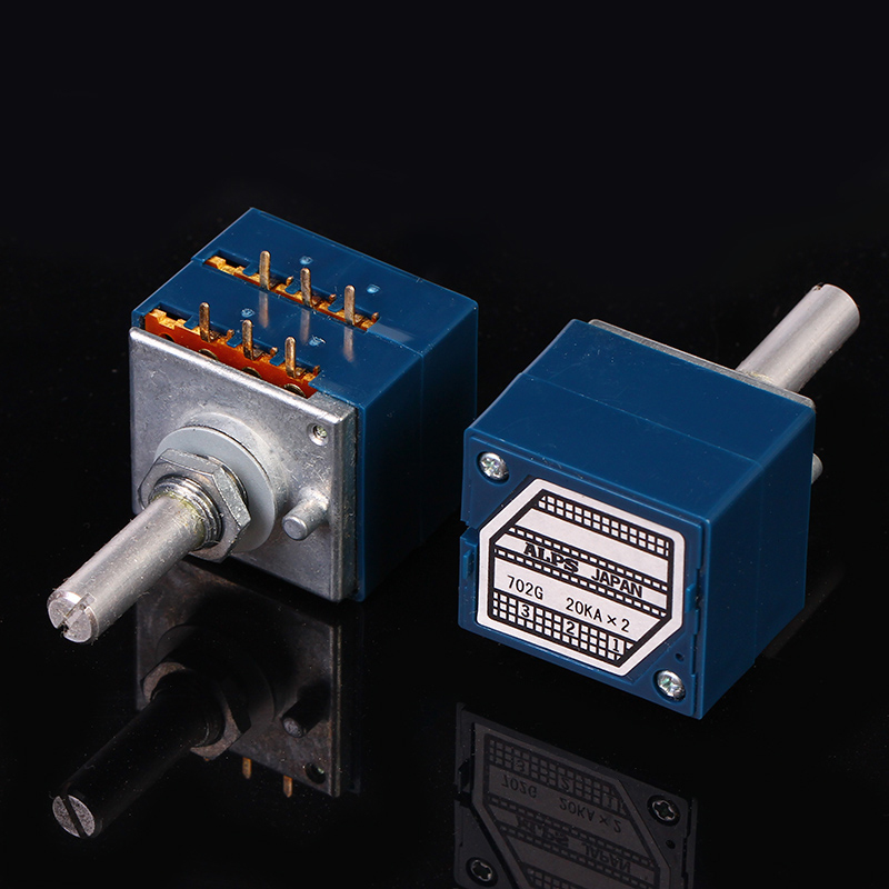 1PCS 10K 20K 50K 100K 250K RK27112 ALPS Dual-unit Rotary Potentiometer ALPS27 DIP6