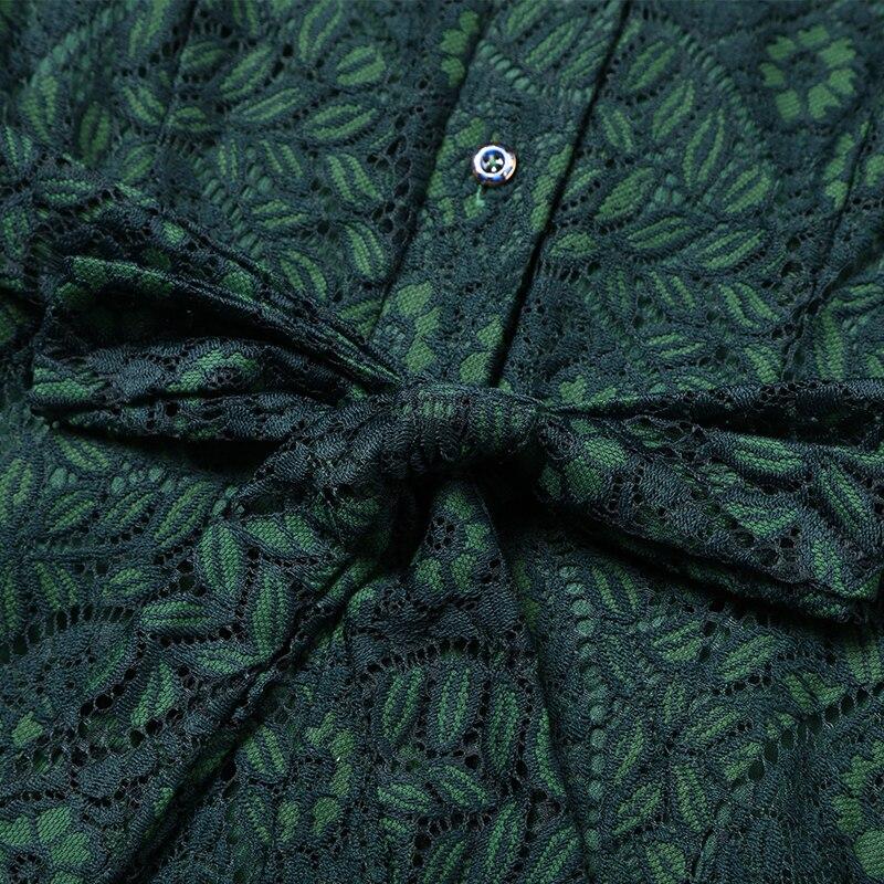 TAOYIZHUAI automne style décontracté robe pour les femmes o cou fit et flare taille haute bouton poignet genou longueur grande taille 14294 - 5