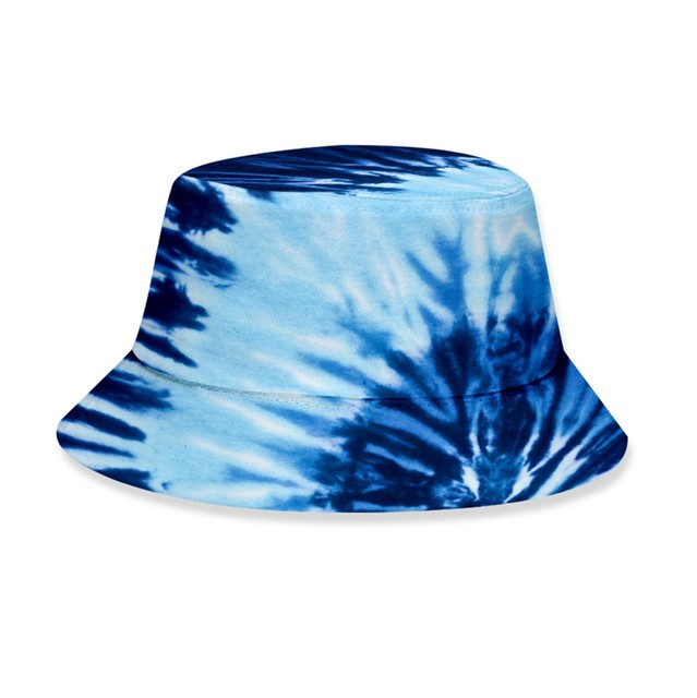 Fashion Men Women Tie-dye Printed Bucket Hat Outdoor Activities Sun Protecting Hat Unisex Foldable Fisherman s Hat Casquette