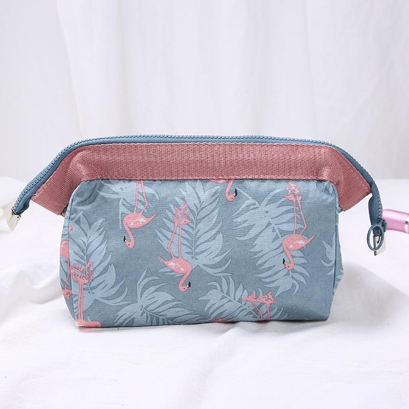 Travel Animal Flamingo Make Up Bags Cosmetic Bag Wash Organizer Toiletry Girl Pouch Makeup Beauty Women Storage Kit Bath Case