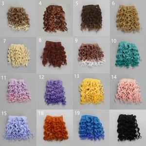 Image 2 - Extensão de cabelo encaracolado, 15*100cm de parafuso de alta qualidade para todas as bonecas, diy, resistente ao calor de fibra, cabelo wefts acessórios brinquedos