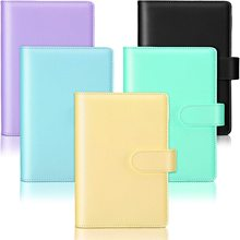 New A6 Vintage Refillable Notebook File Folder Notepad Cover Leather Ring Binder Office School Supplies Multi-Color